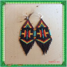 Long Beaded Earrings A Whole New Level by Bead4Fun on Etsy