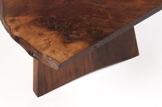 A close up picture of the beautiful grain in the top of a George Nakashima style coffee table made by Philip Hawkins Workshop ltd English Walnut, George Nakashima, Close Up Pictures, Workshop, Rustic, Bar, Coffee, Breakfast, Kitchen