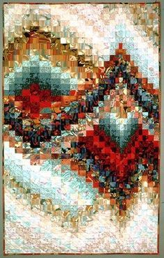 Southwest Fugue -- I will likely never Bargello, but this is gorgeous. Shared by www.nwquiltingexpo.com #nwqe #quilt