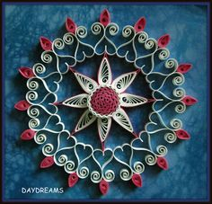 DAYDREAMS: Quilled kolam