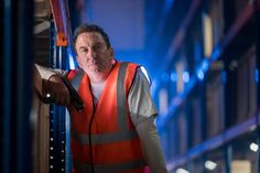 """Doctor Who Season 11 Episode 7 : Kerblam! """"Delivery for the Doctor!"""" A mysterious message arrives in a package addressed to the Doctor, leading her, Graham Dr Who 13th Doctor, Doctor Who Season 11, Lee Mack, Steven Moffat, Uk Tv, Streaming Vf, Picture Show, Comedians, Tv Series"""