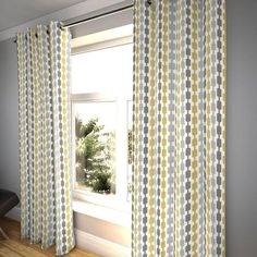 design Silver Grey Curtains, Yellow And Grey Curtains, Purple Curtains, Purple Pillows, Striped Curtains, Pleated Curtains, White Curtains, Blackout Curtains, Curtains Uk