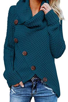 Womens Plus Size Long Sleeve Ladies Uneven Hem Knitted Scarf Fishtail Jumper Top