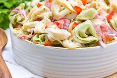 Recipe: Zesty Tortellini Salad — Side Dish Recipes from The Kitchn halloween dishes recipes Tortellini Salad, Macaroni Salad, Cheese Tortellini, Tortellini Recipes, Pasta Dishes, Food Dishes, Side Dishes, Pasta Food, Tuna Pasta