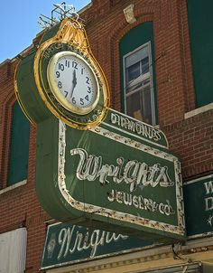 Always time for jewelry, also did repairs at a really reasonable price. Saint Joseph Missouri, Retro Signage, St Joes, Vintage Neon Signs, Neon Clock, Neon Nights, Old Signs, Antique Clocks, Advertising Signs