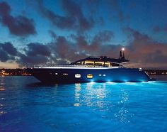 The gorgeous Pershing 108 lit up at sunset. Swipe up on our story to view the listing on YachtWorld.com. • • #yacht #dream #yachts #motoryacht #megayacht #pershing #ferretti #boating #luxury #luxurylife #sea #beautiful #night #summer #design #photooftheday #yachtlights