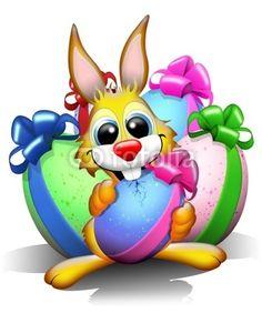 Funny Easter Rabbit © bluedarkat