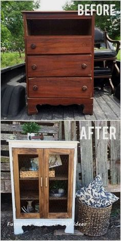 Awesome DIY Furniture Makeover Ideas: Genius Ways to Repurpose Old Furniture With Lots of Tutorials – HomeDivvy – Home Ideas Furniture Projects, Furniture Makeover, Home Furniture, Diy Projects, Furniture Stores, Pallet Projects, Furniture Plans, Kitchen Furniture, Furniture Design