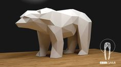 Bear XXL Papercraft, 3D Papercraft - Build Your Own Low Poly Paper Sculpture from PDF Download (DIY gift, Wall Decor for home and office) di EBURgami su Etsy