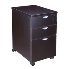 Boss Office Products 3 Drawer Mobile Pedestal Box Color: Mocha