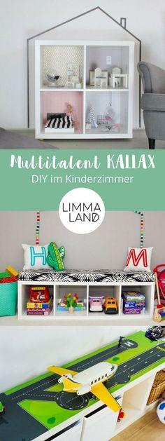IKEA KALLAX shelf is a multi-talented toy – especially for kindergarten. On … – Kinderzimmer einrichten – Ikea Hacks Etagere Kallax Ikea, Ikea Kallax Shelf, Ikea Kallax Regal, Ikea Storage, Decoration Ikea, Decoration Bedroom, Home Decor Bedroom, Kallax Ideas, Diy Kallax