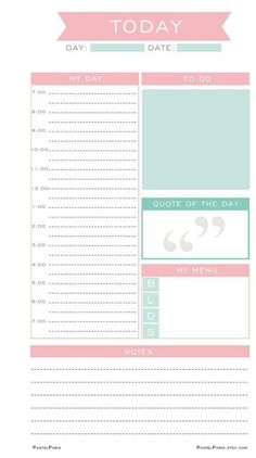 Personal Planner Inserts Printable Planner Refills Undated Daily Planner Pages… … To Do Planner, Daily Planner Pages, Free Planner, Weekly Planner, 2018 Planner, College Planner, Daily Planners, School Planner, School Schedule