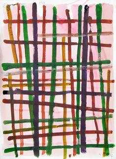 vjeranski:  Günther Förg (1952-2013) Mostly Landscape, #34, 2009, Ink &Tempera on paper.