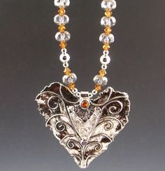 Fleur - Precious Metal Clay Earrings