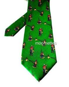 Ralph Lauren Fishing Silk Tie Green Angler Fish Sports Fisherman Mens Necktie  #RalphLauren #NeckTie