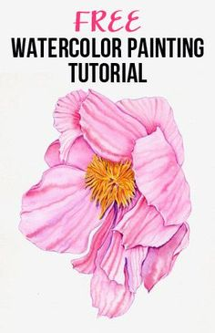 Free watercolor painting tutorial