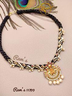 Indian Jewellery Design, Latest Jewellery, Jewellery Designs, Bracelet Designs, Gold Jewellery, Indian Jewelry, Gold Pendant, Pendant Jewelry, Beaded Jewelry