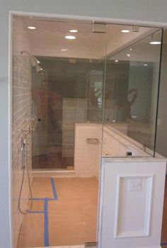 Glass Doctor - Double shower, glass frameless enclosure