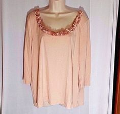 Joe Browns Grey FRILL Trim 3//4 Sleeve CRINKLE Blouse Top Sizes 18//20 to 30//32