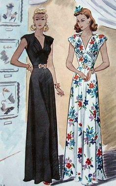 1940s vintage pattern - wedding gown inspiration 1930s dress Vintage 1950s dress.... 1950s Cocktail Dress