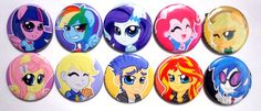 MLP Equestria Girls 175in Buttons SINGLE or by set wanabiEPICdesigns