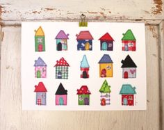 little houses - art print