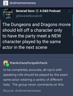 Dnd Funny, Stupid Funny, Dungeons And Dragons Movie, Tumblr Funny, Funny Memes, Haha, Dragon Movies, Pokemon, Really Funny