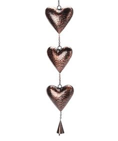 Look what I found on #zulily! Triple Heart Bell Wind Chime by Grasslands Road #zulilyfinds