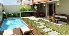 Ideia de área externa simples e muito charmosa  Ameeeeei!!! ❤️❤️❤️ - #áreaexterna #piscina #design #decoração #arquitetura #acasaqueeuquero #novidades #instagram