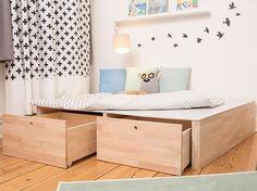 DIY-Anleitung: Podest fürs Kinderzimmer bauen / how to build a wooden podest for your home via DaWanda.com