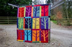 I made this quilt from the Oakshott 12 trees kit which in turns uses the sunrise fat 8th pack which has the most glorious mix of colour as y...