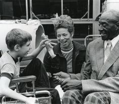 Alison Gilbert with Foster Grandparents Program participants, mid 1970s :: University Archives Photograph Collection