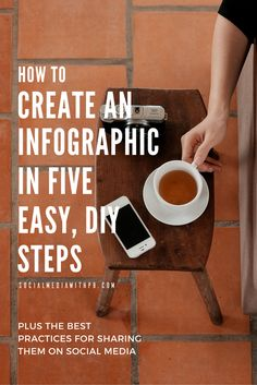 Learn how to create your very own infographic in 5 easy, DIY steps! And get to know the best practices for sharing them via social media. | Via Social Media w/ Priyanka - DIY Social Media and Content Marketing for your Biz + Blog