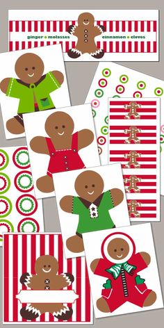 Gingerbread Christmas Printables - Free Download