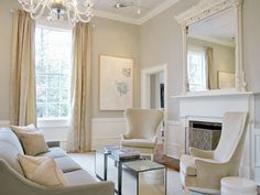 Sitting Room - neutral palette.  This would be great to cozy up and nap. :)