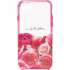 Kate Spade New York In Full Bloom iPhone 7 Case ($40) ❤ liked on Polyvore featuring accessories, tech accessories, metallic iphone case, iphone cases, apple iphone case, flower iphone case and kate spade