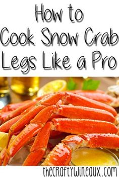 How to Cook Snow Crab Legs Like a Pro. Pretty much everybody loves crab legs, but getting them in a restaurant is expensive. Snow crab season is early in the Spring, so you can get these tasty critters from your local grocer fresh and for a very. Seafood Boil Recipes, Crab Recipes, Lobster Recipes, Crab Dishes, Seafood Dishes, Seafood Soup, Crab Leg Recipes Boiled, Antipasto, Recipes