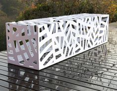 Obbligato Steel Bench  http://www.obbligato.co.za/furniture.htm    See also:  14 Multipurpose Modular Garden Furniture Pieces   http://vurni.com/multipurpose-modular-garden-furniture/