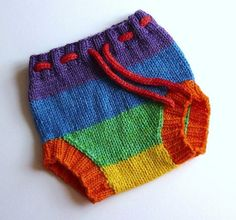 Custom hand knitted wool soaker. Cloth nappy cover by FeltFusion