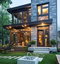 Straight Lines....Large Long Windows...Such a Modern Home...yet with ...