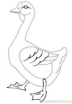 Раскраска Гусь Coloring Pages For Girls, Coloring For Kids, Free Coloring, Coloring Books, Dotted Drawings, Colorful Drawings, Floral Arm Tattoo, Chicken Art, Stained Glass Designs