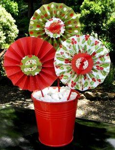 Ruffle paper flowers