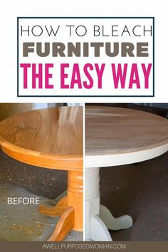 Furniture Repair, Paint Furniture, Furniture Projects, Furniture Makeover, Furniture Refinishing, How To Whitewash Furniture, Wood Projects, Woodworking Projects, White Washed Furniture