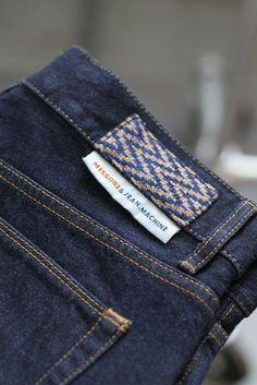 Back Label Detail : Branding Ideas Más Denim Branding, Fashion Branding, Hipster Jeans, Streetwear, Leather Label, Clothing Labels, Vintage Denim, Denim Fashion, Fashion Details