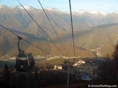 View from the top of a mountain in Krasnaya Polyana. The first snow fell in October (ATR)