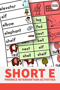 Short E can be SO tricky! These phonics resources are designed to tackle tricky Short E in small groups and literacy centers.