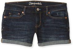 Dark Wash Midi Denim Shorts by Aeropostale
