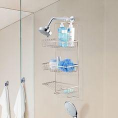 simplehuman Adjustable Shower Caddy Plus Stainless Steel and Anodized Aluminum Corner Shower Seat, Hanging Shower Caddy, Standing Shower, Steel Bath, Bathtub Caddy, Wood Bath, Shower Shelves, Shower Floor, Bathroom Organization