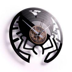 Keith: Artistic Carved Vinyl Wall Clock - Wall Clocks - Home ...