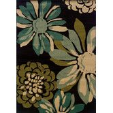 Found it at Wayfair - Emerson Teal/Ivory Floral Rug
